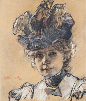 Malmodell Gertrud Luberich mit Hut ⋅ 1899 Image
