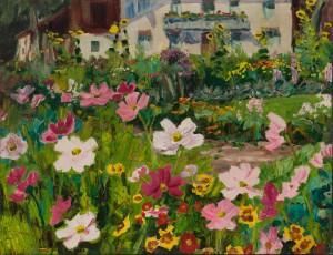 Bauerngarten in Feldwies am Chiemsee ⋅ 1942 Image