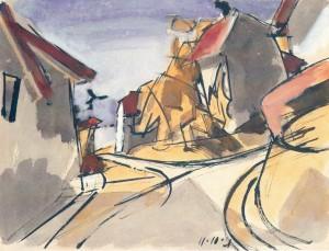 Häuser am Chiemsee III (Gstadt) ⋅ 1921 Image