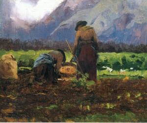 Kartoffelernte ⋅ um 1910/15 Image