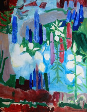 Garten mit Rittersporn ⋅ um 1963 Image