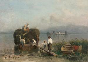 Fischerfamilie am Chiemseeufer ⋅ um 1890/95 Image