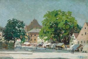 München - Auer Dult (Beim Radlerwirt) ⋅ 1913 Image