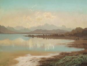 Blick von der Herreninsel über den Chiemsee ⋅ um 1850 Image