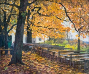 Biergarten im Herbst ⋅ um 1926 Image
