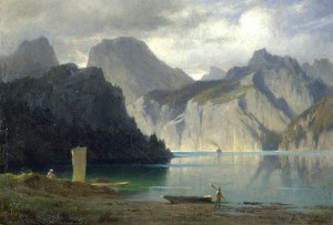 Abend am Traunsee ⋅ 1874 Image