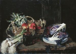 Großes Obst- und Gemüsestillleben ⋅ um 1947 Image