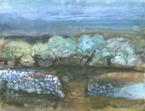 Olivenbäume und Steinmauern, Kreta ⋅ 2000 Image