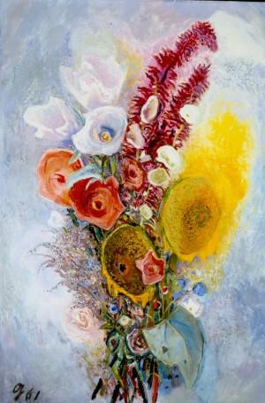 Strauß mit Calla und Sonnenblumen ⋅ 1961 Image