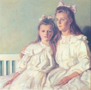Elly und Astrid, die Töchter des Malers ⋅ 1908 Image