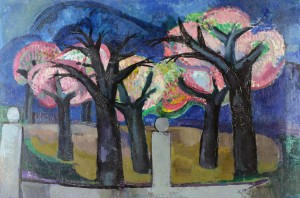 Blühende Bäume auf Ischia ⋅ 1959 Image