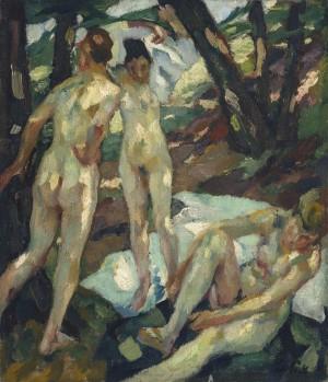 Die Badenden (Hartmannsberg) ⋅ 1911 Image