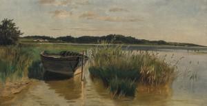 Chiemseeboot im Schilf ⋅ um 1870 Image