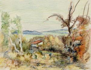 Herbtstliche Landschaft (Skizze) Image
