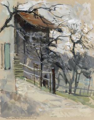 Obstgarten am Haus in Niklasreuth, Gemeinde Irschenberg ⋅ 1930 Image