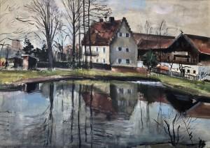 Gut Landesham bei Wasserburg am Inn | ehemaliges Jagdschloss, zur Hofmark Penzing gehörend ⋅ 1944 Image