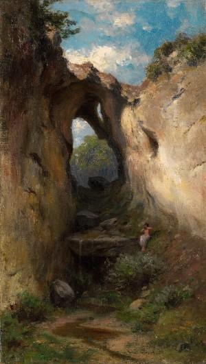 Faun in Waldschlucht ⋅ um 1900 Image