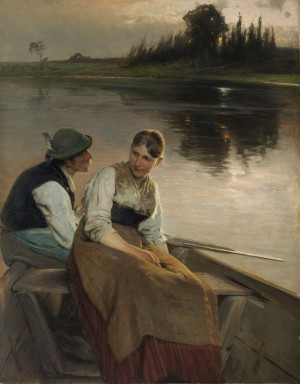 Am Abend (Rendezvous am Chiemsee) ⋅ 1896 Image