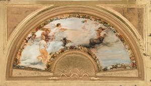 """Fächerbild """"Allegorie des Windes"""" ⋅ 1882 Image"""