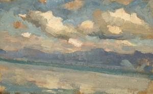 Ziehende Wolken am Chiemsee Image