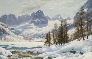 Der Seebensee bei Ehrwald in Tirol ⋅ 1920 Image