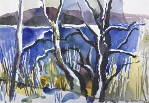 Tegernseelandschaft im Vorfrühling ⋅ 2000 Image