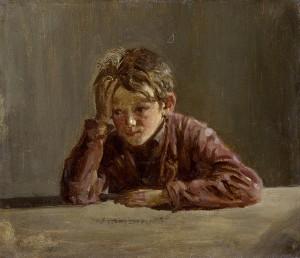 Georg, der Bruder des Künstlers, am Tisch sitzend ⋅ 1854 Image