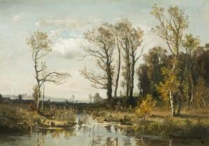 Moorlandschaft im Herbst ⋅ um 1930 Image