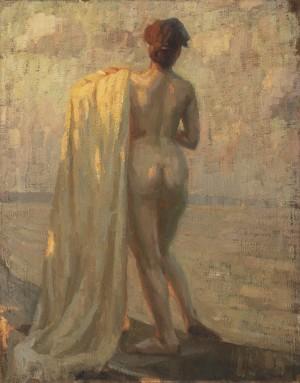 Abendsonne (Badende am Chiemsee) ⋅ um 1925 Image