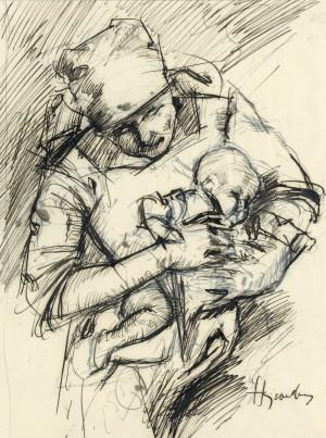 Mutter mit Kind ⋅ um 1920 Image