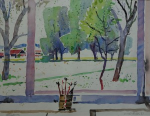 Blick aus dem Atelierfenster in Osternach ⋅ 1933 Image