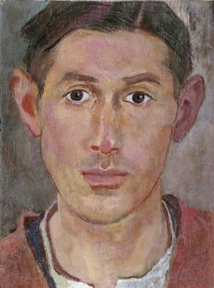 Selbstbildnis in rotbrauner Joppe ⋅ 1924 Image