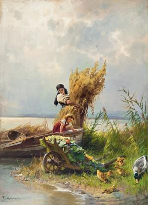Chiemseeidyll ⋅ um 1890 Image