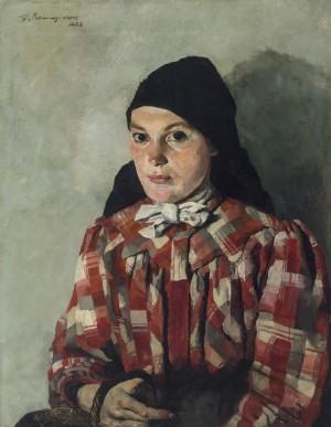 Bauernmädchen mit Korb ⋅ 1920 Image