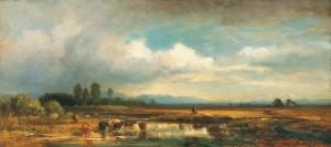 Moorlandschaft mit Kühen ⋅ um 1860 Image