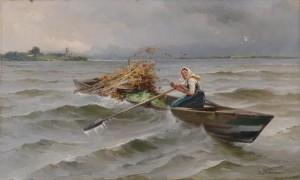Stürmische Überfahrt ⋅ um 1900 Image