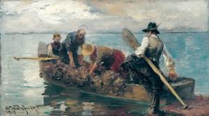 Chiemseefischer bei der Ausfahrt ⋅ 1915 Image