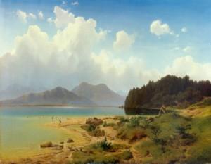 Aufziehendes Gewitter am Chiemsee ⋅ 1855 Image