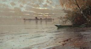 Abendstimmung am Chiemsee ⋅ um 1900 Image