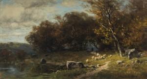 Schafherde im Herbst ⋅ um 1880 Image