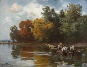 Chiemseefischer am herblichen Ufer ⋅ 1910/15 Image