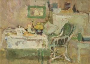 Interieur mit gedecktem Tisch Image
