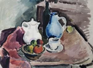 Tischstillleben mit blauem Krug ⋅ 1923 Image