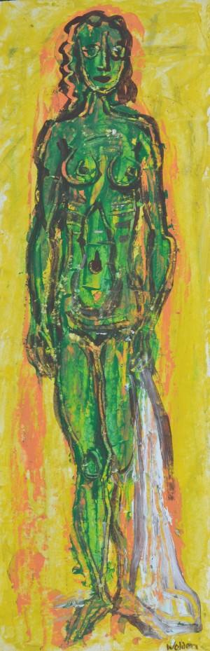 Weiblicher Akt auf gelbem Grund ⋅ um 1965 Image
