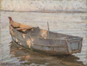 Boot im Abendlicht Image