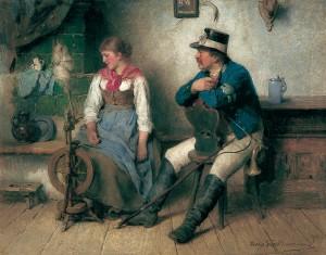 Vorsichtige Annäherung ⋅ 1890 Image