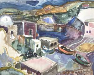 Hafenecke in Sant' Angelo, Ischia ⋅ 1956 Image