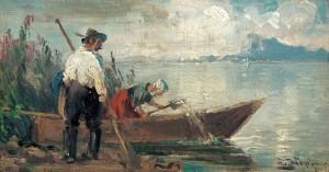 Beim Auswassern ⋅ 1915 Image
