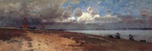 Gewitterstimmung am Chiemsee ⋅ um 1900 Image