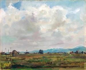 Moosstimmung am Chiemsee (bei Übersee) ⋅ 1915 Image